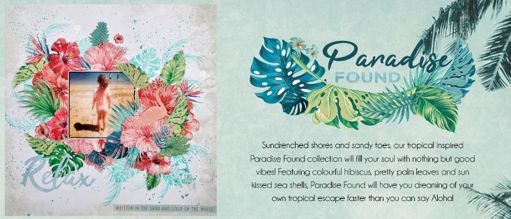 Tropical Paradise Holiday Beach Hibiscus Kaisercraft Mini TEMPLATE STENCIL