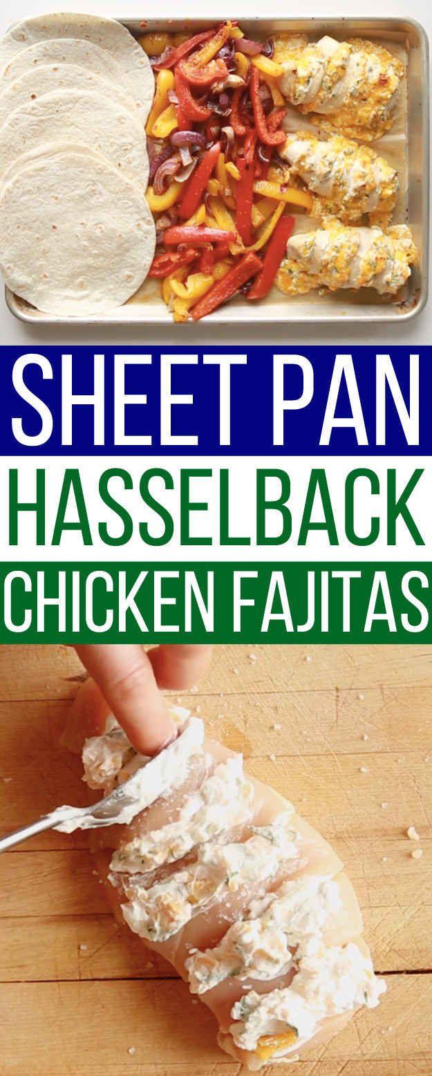 These Sheet Pan Chicken Fajitas Are Game-Changing