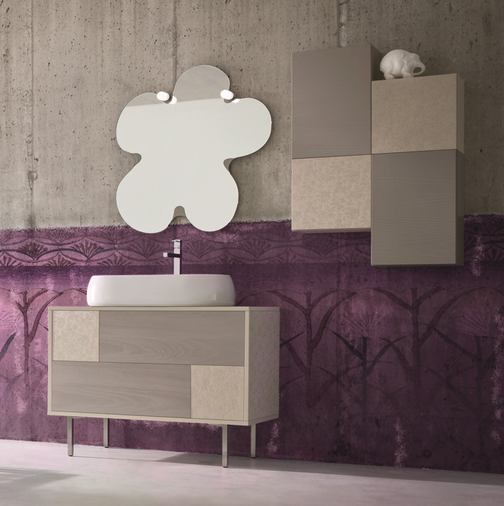 fashion bahtroom cabinet and the return to Earth tones...
