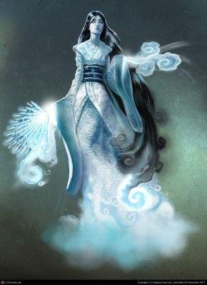 "Yuki-Ona ""Winter Woman"" - Japanese Yokai"