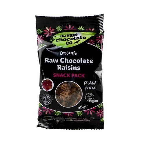 The Raw Chocolate Co. Organic Raw Chocolate Coated Raisins 28g