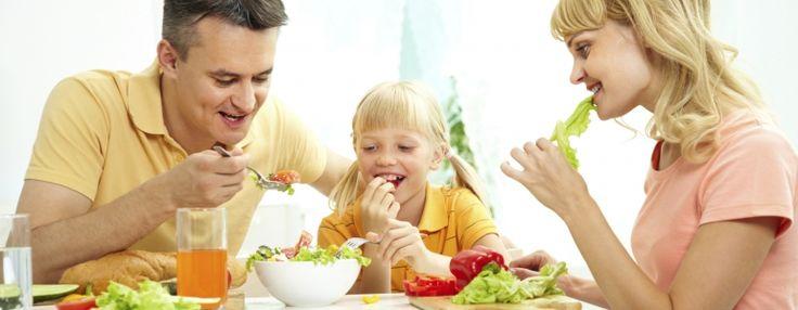 Egészséges táplálkozás családdal