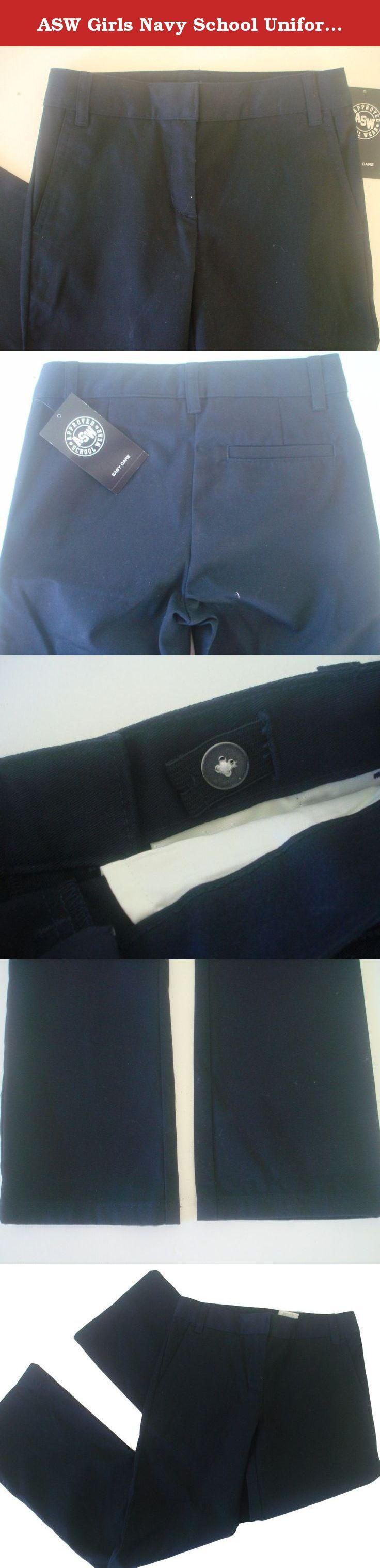 ASW Girls Navy School Uniform Pants Size 14.