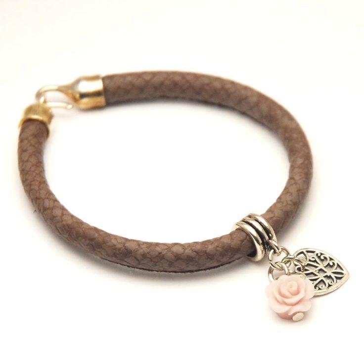 Dames armband slangenprint