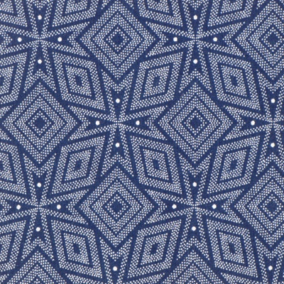 Shwe Shwe indigo-dyed blue print cotton fabric from South Africa