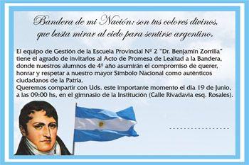 Tarjetas Gigantografias, Souvenirs, INVITACION PARA EVENTO DE PROMESA A LA BANDERA