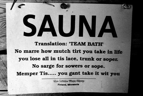 Sauna - Read as if you're Finn.