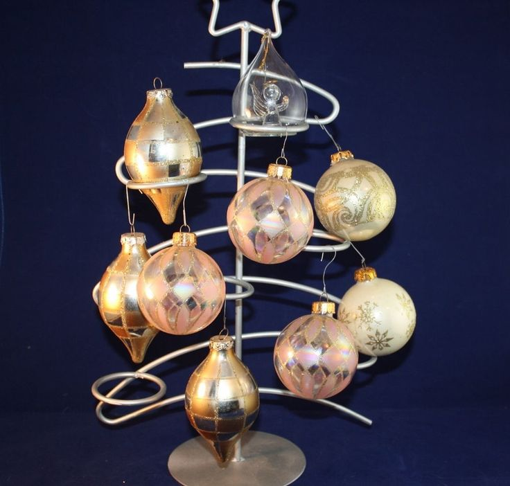 Gold Glass Christmas Ornaments