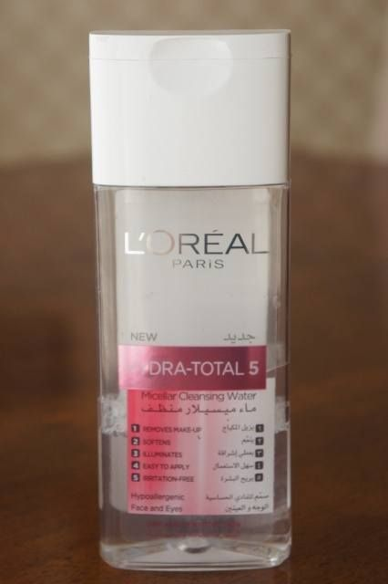 L'Oreal, Hydra, Total 5, Micellar Cleansing Water, review, lightweight, spreads well, dispenses easily, no mess, remove makeup and dirt easily, faint fragrance, non greasy, no irritation, cooling sensation, no break out, no alcohol, affordable