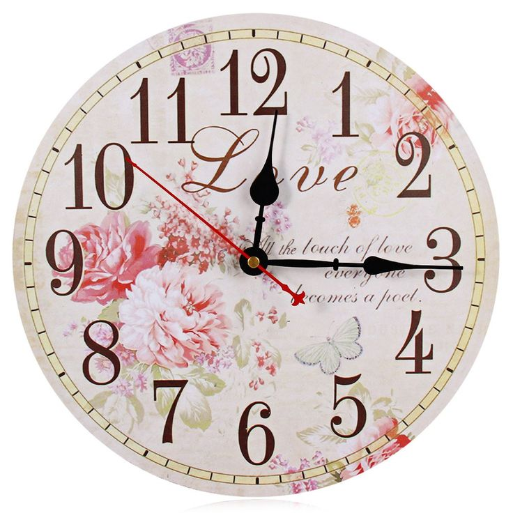 Flower Print Vintage Wooden Decorative Wall Clock //Price: $19.66 & FREE Shipping //     #hashtag4