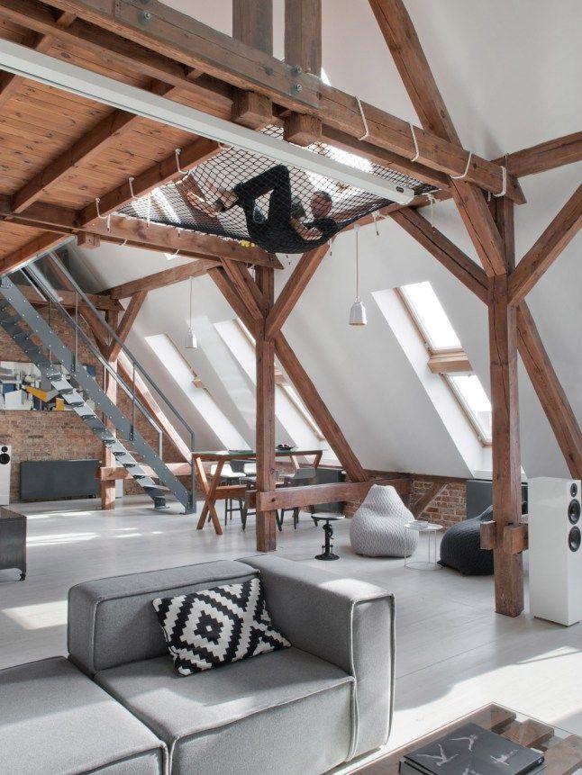 Loft bois blanc gris