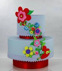 Risultati immagini per torte con fiori in pdz
