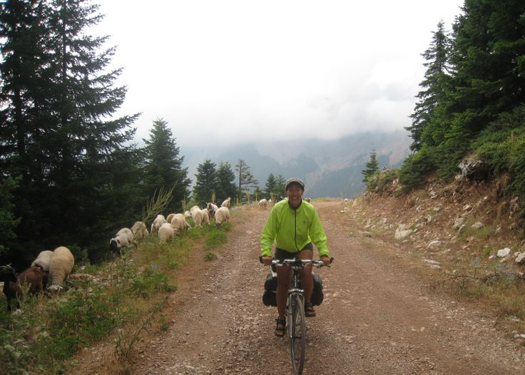 """EPIRUS  It is not possible to bike in rural Greece without hearing the """"orchestra"""" of goat and sheep bells.  They make a heavenly background music as you pedal down the road."""
