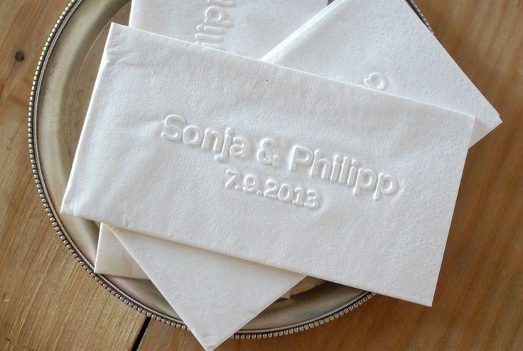 50 Taschentücher mit Reliefprägung von PRÄGEMANUFAKTUR auf DaWanda.com