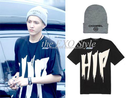 Channel Zero Beanie in Grey & Oversize Hip Hop T-Shirt in black