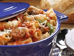 Sausage and Pasta bake...perfect for a fall bunco/potluck.