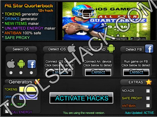 All Star Quarterback  Hack - 27.09.2014 Updated  http://tools4hack.com/all-star-quarterback-hack-cheats-september/