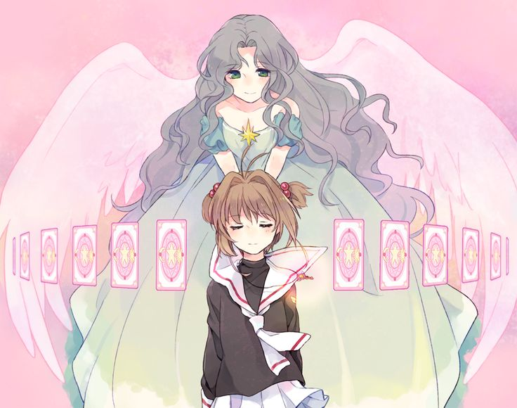 CardCaptor Sakura :: Motherly angel watches over her child :: Nadeshiko Kinomoto and Sakura Kinomoto