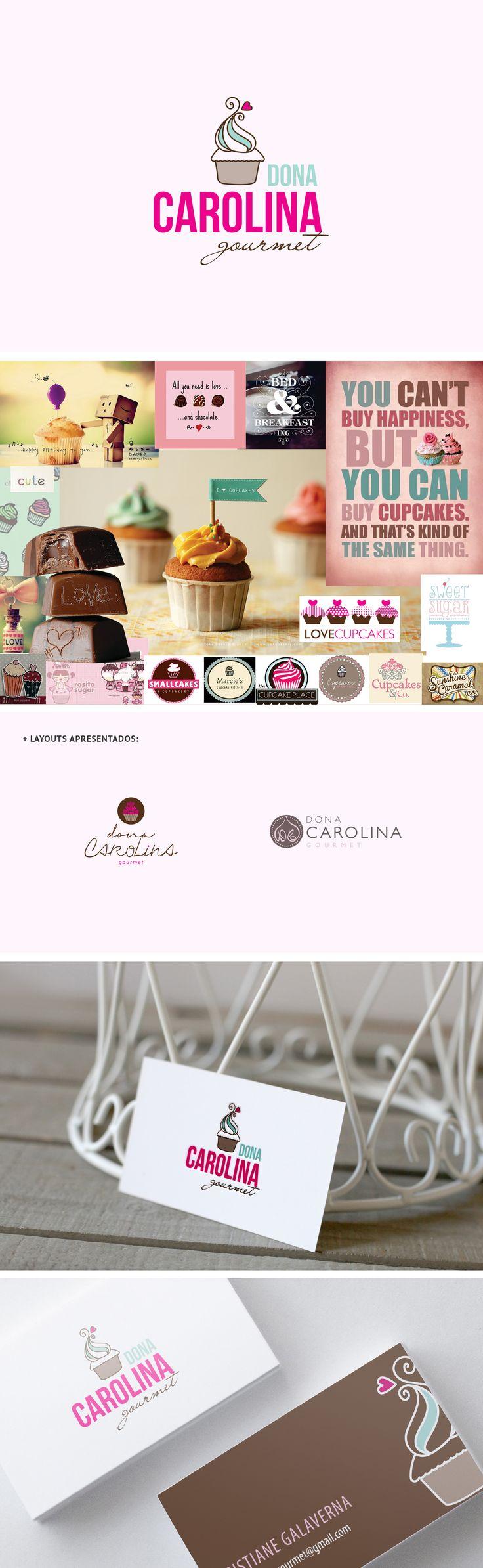 Marca + cartão de visitas Cupcakes e docinhos gourmet