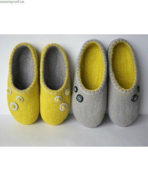 f9fff8cbb03d9 Felt slippers for women   Shoes   Slippers, Womens slippers, Felted ...