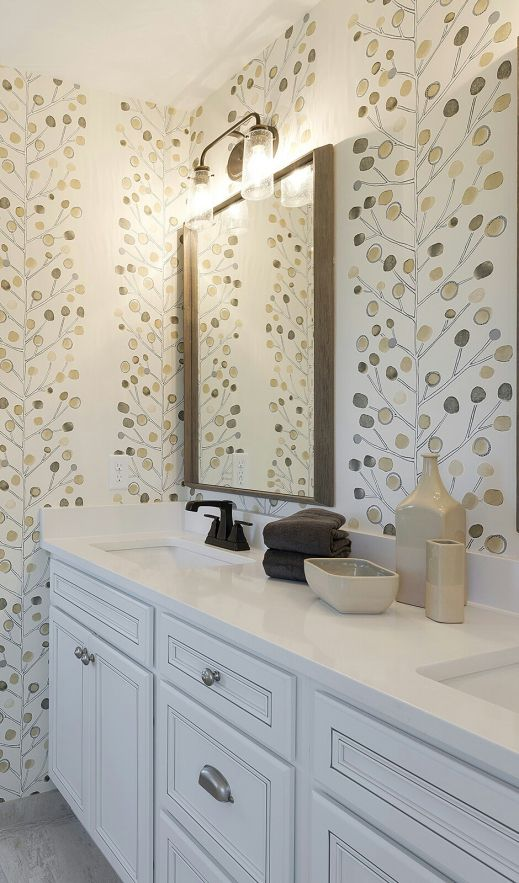 Scion wallpaper used in Parade of Homes #248. Interiors by Jay Nuhring House Styling. This wallcovering is gorgeous in any color.