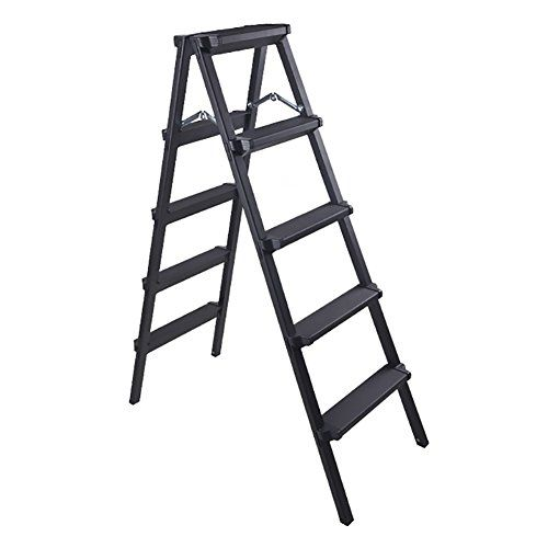 Lxf Step Stool Thickened Step Stool Aluminum Alloy Engineering Ladders Foldable Stairs Indoor Household Non Slip Color Black 4 Step Ladder Aluminium Alloy Ladder