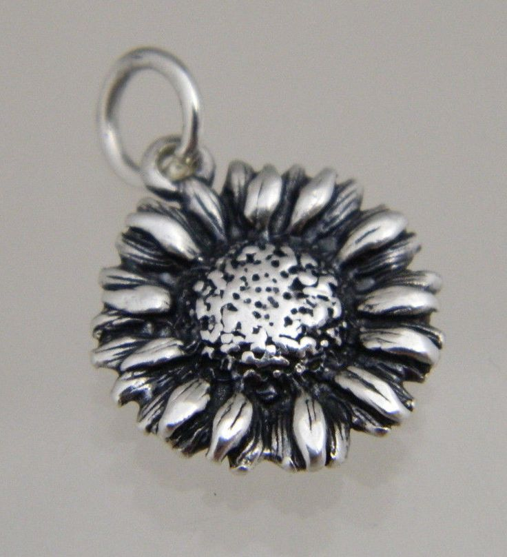 JAMES AVERY STERLING SILVER RETIRED SUNFLOWER CHARM - sunflowers are the state flower of Kansas.