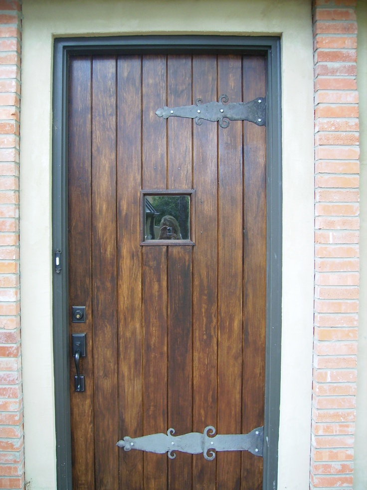 beautiful faux wood front doors #3: wood graining a front door - faux bois