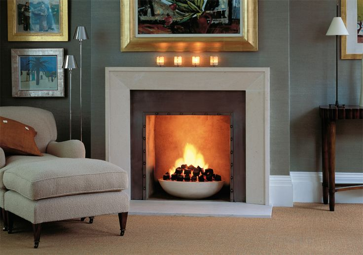 The Metro - Contemporary Fireplace designed by Colin Orchard.  Chesneys