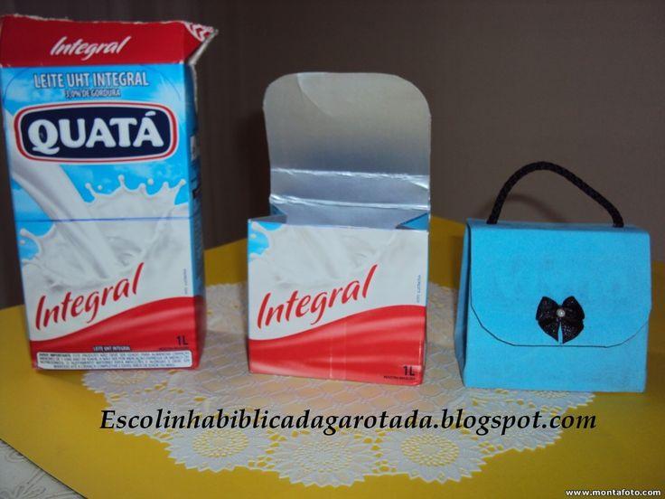 Artesanato com caixa de leite 010