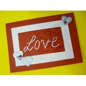 Valentinstagskarten basteln | eine schöne Kartenidee zum Valentinstag