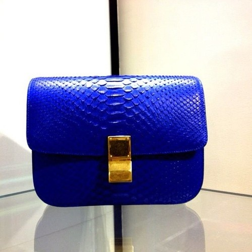 Celine Box in electric blue python | Luxury Handbags | Pinterest ...