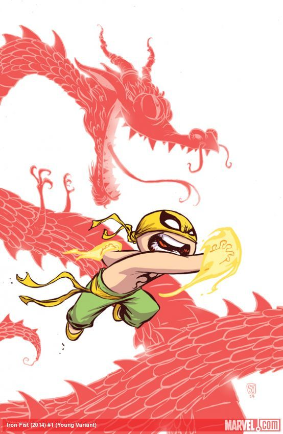 Iron Fist: The Living Weapon #1 young variant cover by Skottie Young