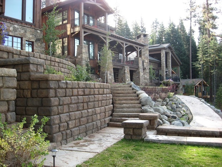 Residential landscaping ideas by redi rock international for Residential landscaping ideas