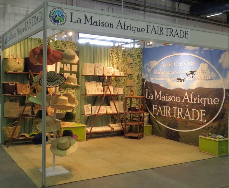 La Maison Afrique FAIR TRADE stand at Formex opening the 15th of August 2013.
