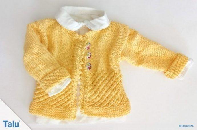 Babyjacke Stricken Anleitung Titel In 2020 Babykleidung Muster Babyjacke Stricken Baby Jacke