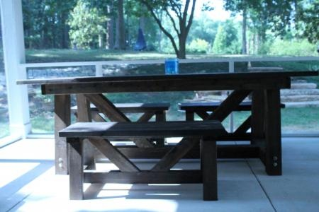 cypress providence table for screened porch   Do It Yourself Home Projects from Ana WhiteProvider Tables, Provider Benches, Cypress Provider, The White, Furniture Plans, Easy Diy, Front Porches, Diy Projects, Outdoor Projects