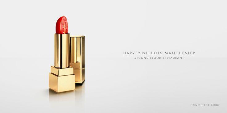 Harvey Nichols Manchester: Lip Stick      Harvey Nichols Manchester. Second Floor Restaurant.  Advertising Agency: TBWA\Manchester, UK