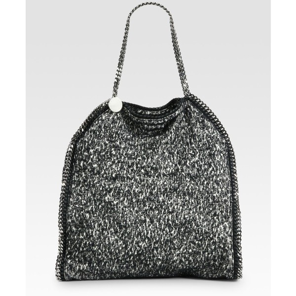 Stella McCartney Falabella Tweed Tote ($1,465) ❤ liked on Polyvore: Stella Mccartney, Tote 1 465, Mccartney Falabella