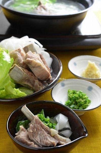 圧力鍋で簡単スペアリブの和風白湯スープ鍋> by 槙 かおるさん ...