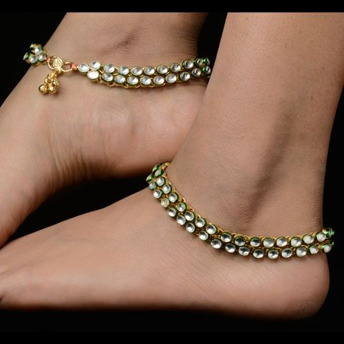 Traditional gold plated anklets. #IndianAnklet
