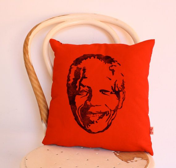 Madiba hand printed scatter cushion decorative by KerryCherry