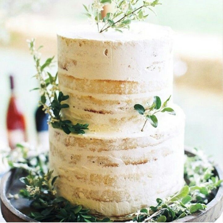 Almost - bare buttercream cake