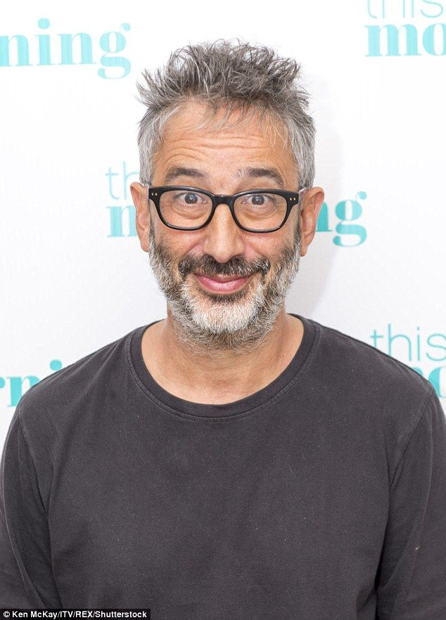 Ladies man: David Baddiel, 52, has claimed that he nearly enjoyed a threesome with Mel B and Mel C in the nineties after charming them into bed with his fame