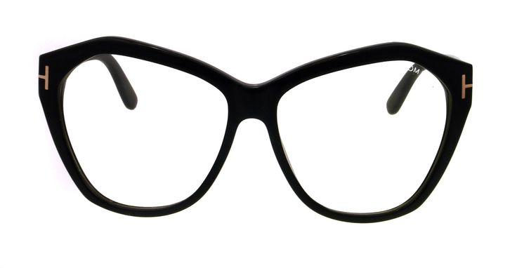 Amazon.com: Tom Ford Tf 317 Angeline Shiny Black Frame/Clear Lens 61Mm: Tom Ford: Clothing