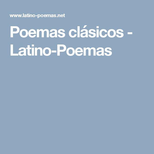 Poemas clásicos - Latino-Poemas