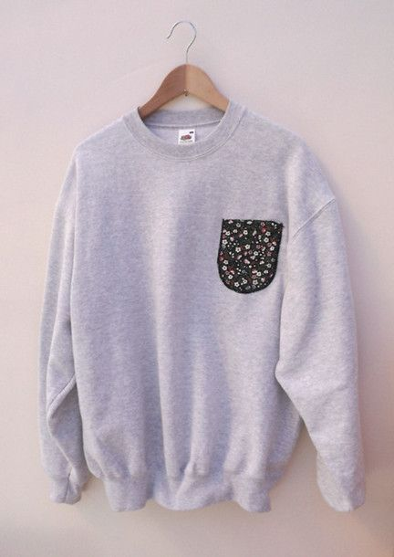 cute hipster clothes | sweater crewneck cute fashion hipster sweatshirt hoodie jumper grey ...