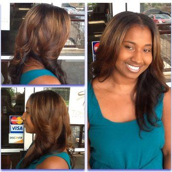 Toni Neal stylist -partial sew-in with color | Yelp