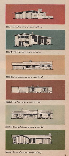 'mid century modern' home ideas from the 1950s