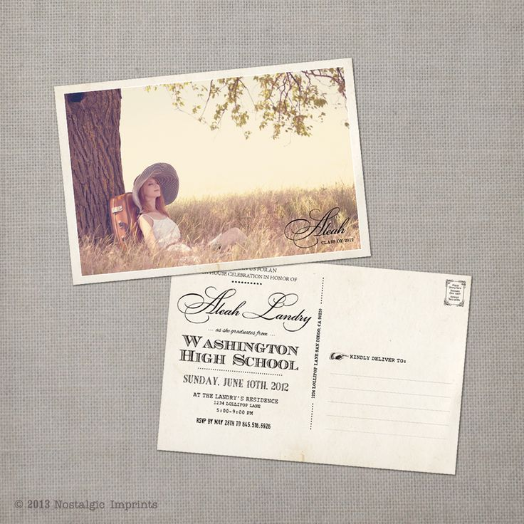 Best 25 Graduation announcements ideas – Graduation Postcard Invitations